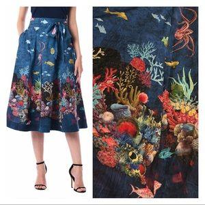 Eshakti Coral Reef Octopus Ocean World Print Skirt